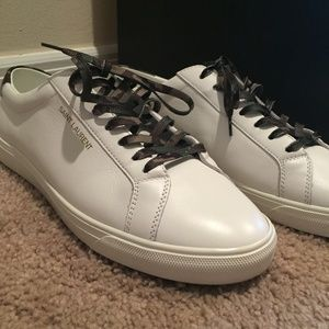 White Leather Saint Laurent Sneakers